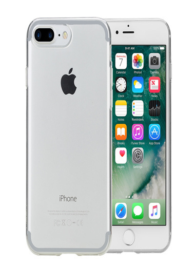 Microsonic Rock iPhone 8 Plus Kılıf Ultrathin TPU Slim Jacket  Beyaz